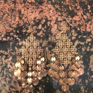 gold/rose gold dangle earrings